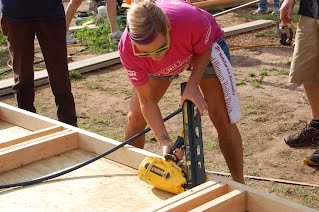 Volunteer Brooke Reed hard at work at the 2015 Women Build.